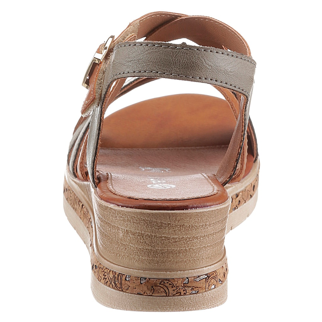 Remonte Sandalette, mit Laufsohle in Kork-Optik