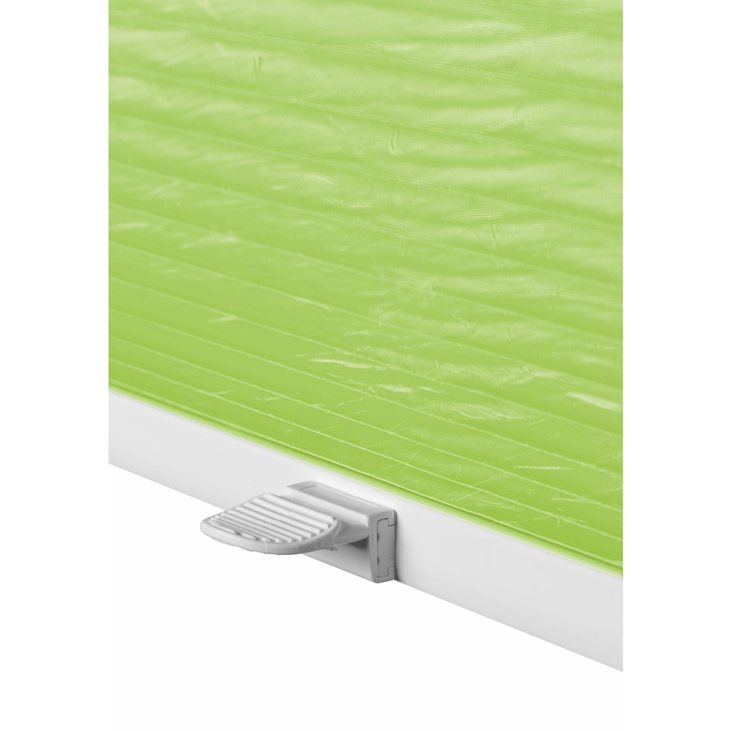 Good Life Dachfensterplissee nach Maß »Dena Crushed«, Lichtschutz, mit Bohren, verspannt, Crushed-Optik, Schienenfarbe in weiß