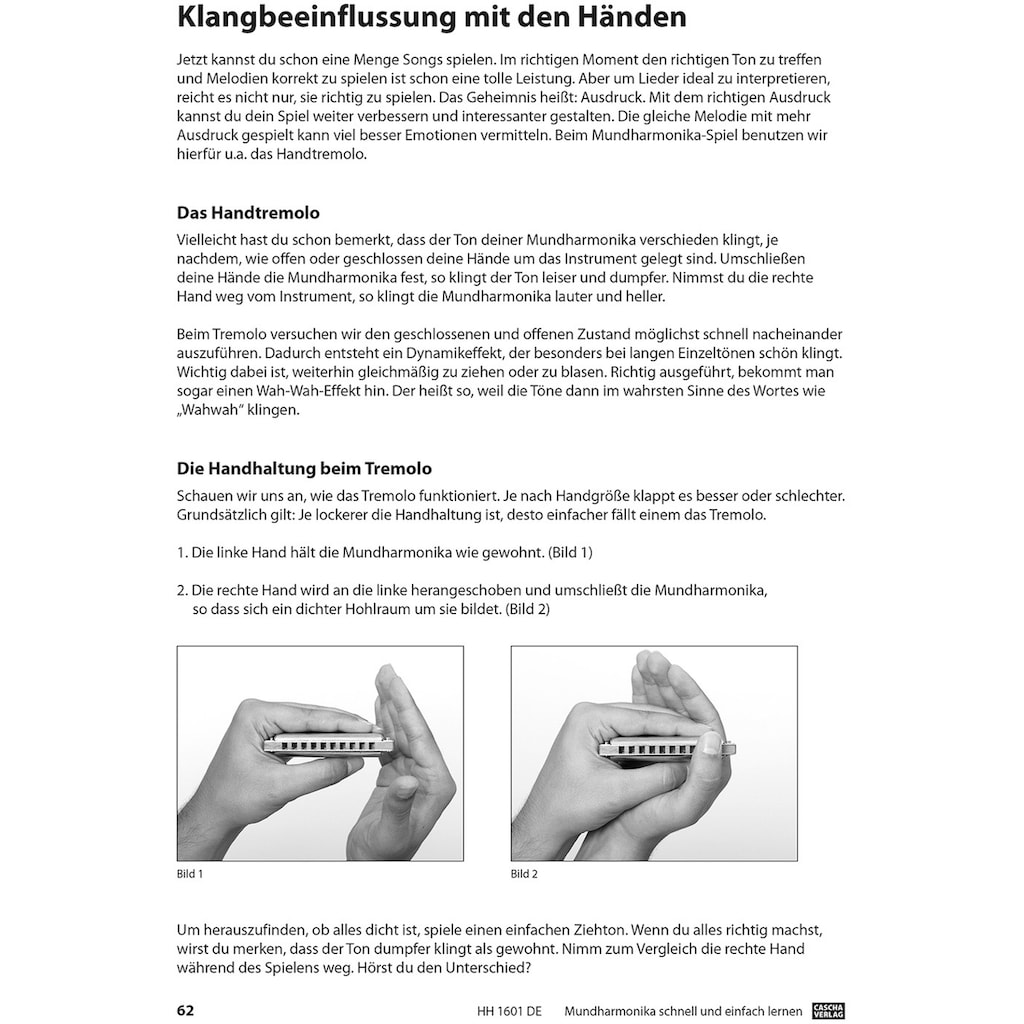 Cascha Mundharmonika-Set »Professional Blues Harmonica«, inkl. Lernbuch