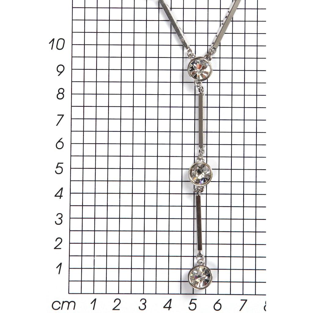 J.Jayz Lange Kette »stilvoll, klassisch, Y-Form«, mit Glassteinen