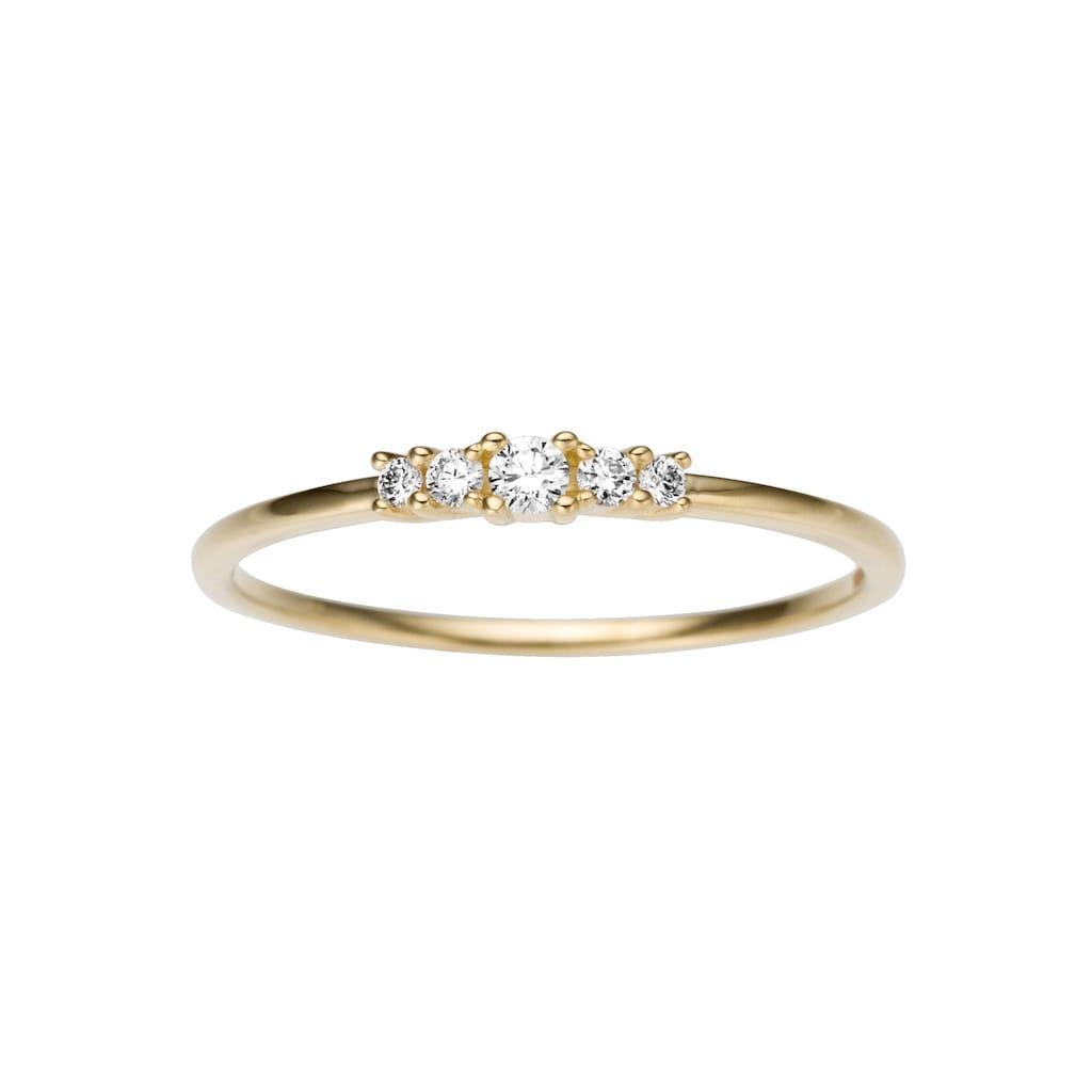 Firetti Diamantring »ca. 2,5 mm breit, Gelbgold«, mit Brillanten