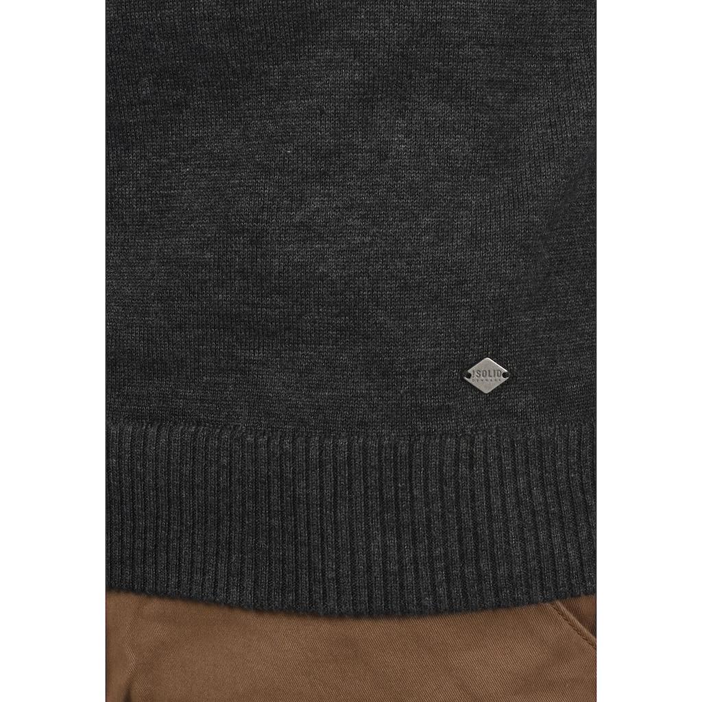 Solid Strickpullover »Barima«, Strickpulli aus Feinstrick