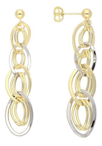 Firetti Paar Ohrstecker »oval, glanz, rhodiniert, bicolor« kaufen