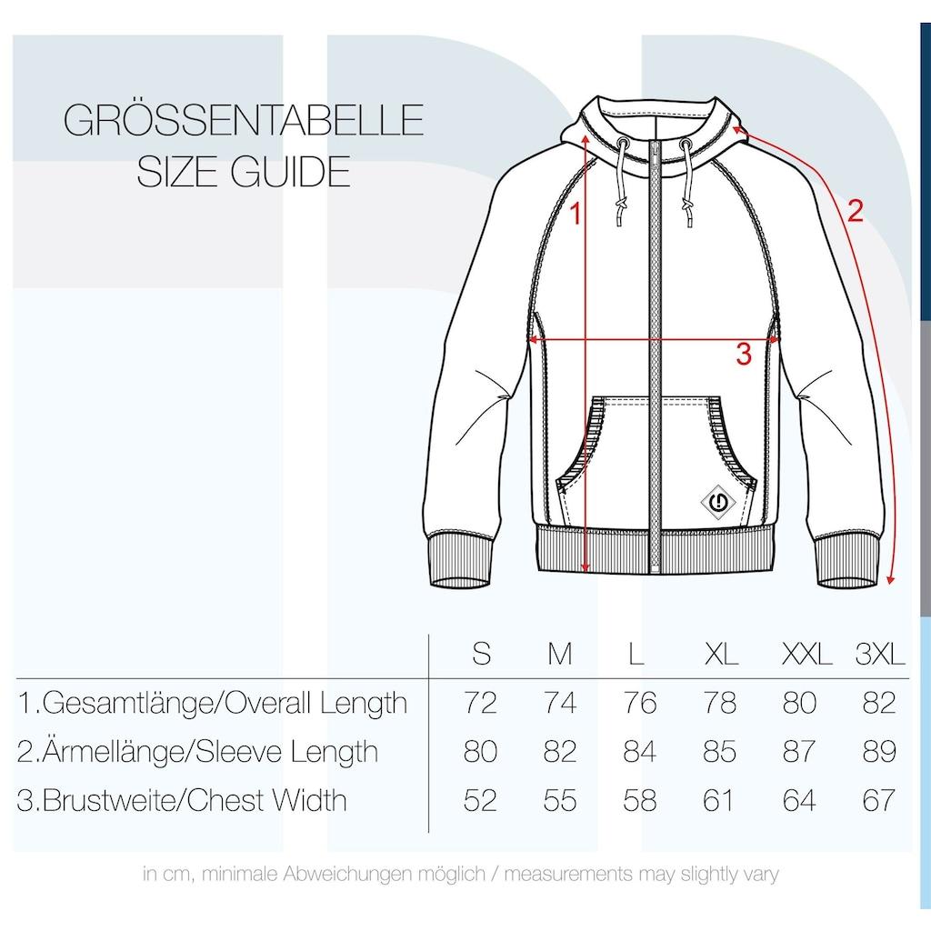 Solid Kapuzensweatjacke »Vitu«, Sweatshirtjacke mit hochabschließendem Kragen