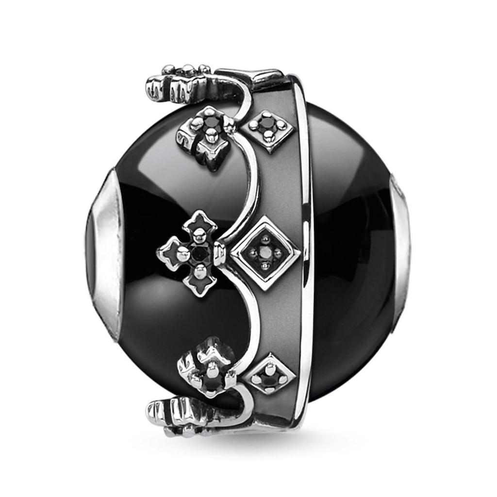 THOMAS SABO Bead »Krone schwarz, K0348-641-11«, mit Onyx und Zirkonia