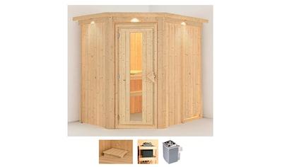 Karibu Sauna »Clara«, 4,5-kW-Ofen mit integrierter Steuerung kaufen