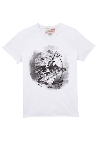 Andreas Gabalier Kollektion Trachtenshirt, Herren mit coolem Printmotiv kaufen