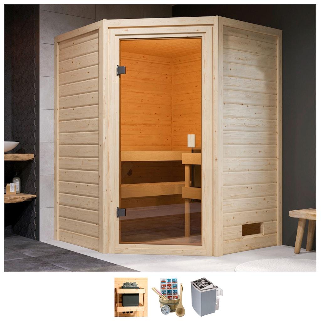 Karibu Sauna »Anni«, 4,5-kW-Ofen mit int. Steuerung