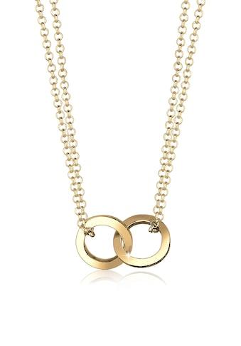 Elli Kette mit Anhänger »Kreis Layer Liebe 925 Sterling Silber« kaufen