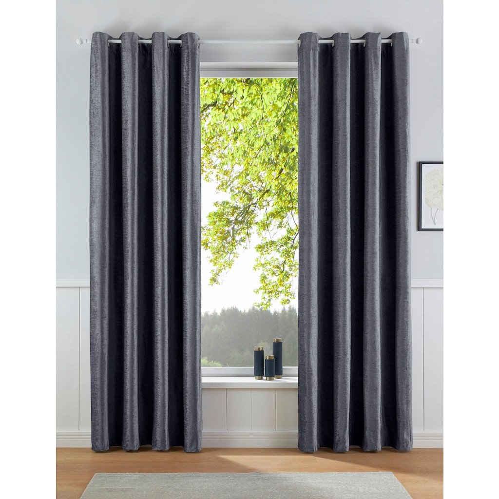 Vorhang, »Satin«, my home, Ösen 1 Stück