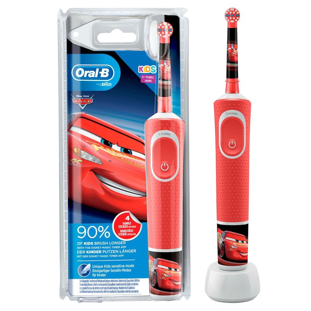 Oral B Elektrische Kinderzahnbürste »Cars«, 1 St. Aufsteckbürsten
