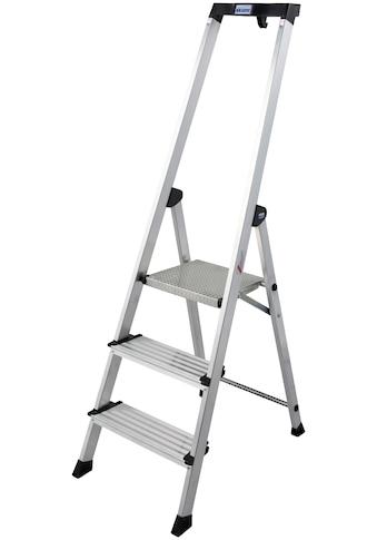 KRAUSE Stehleiter »Safety Plusline«, Aluminium, 3 Stufen, Arbeitshöhe ca. 265 cm kaufen