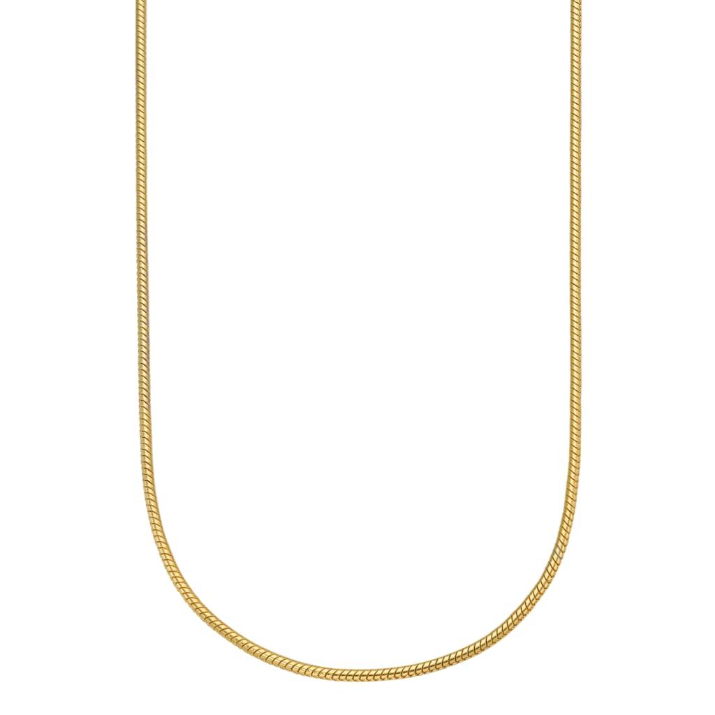 Firetti Edelstahlkette »in Schlangenkettengliederung, 1,5 mm breit, gelbgoldfarben«, Made in Germany