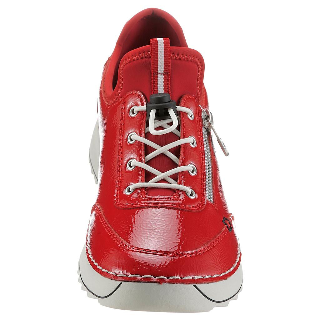 Rieker Slip-On Sneaker, in glänzender Optik