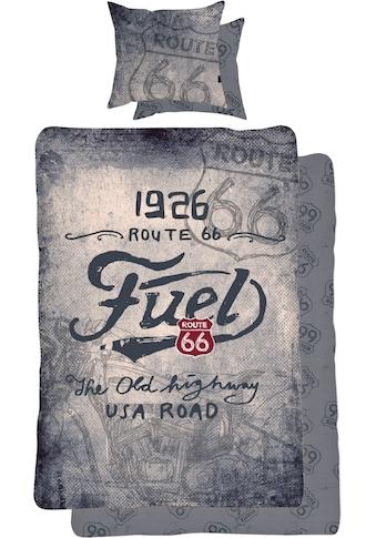 Route 66 Wendebettwäsche »The old highway«, mit Schriftzug kaufen