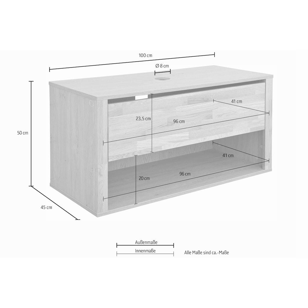 Guido Maria Kretschmer Home&Living Waschbeckenunterschrank »Como«, grifflose Optik