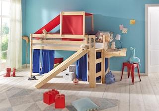 silenta hochbett mit rutsche und podest bequem auf raten kaufen. Black Bedroom Furniture Sets. Home Design Ideas