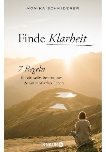 Buch »Finde Klarheit / Monika Schmiderer« kaufen