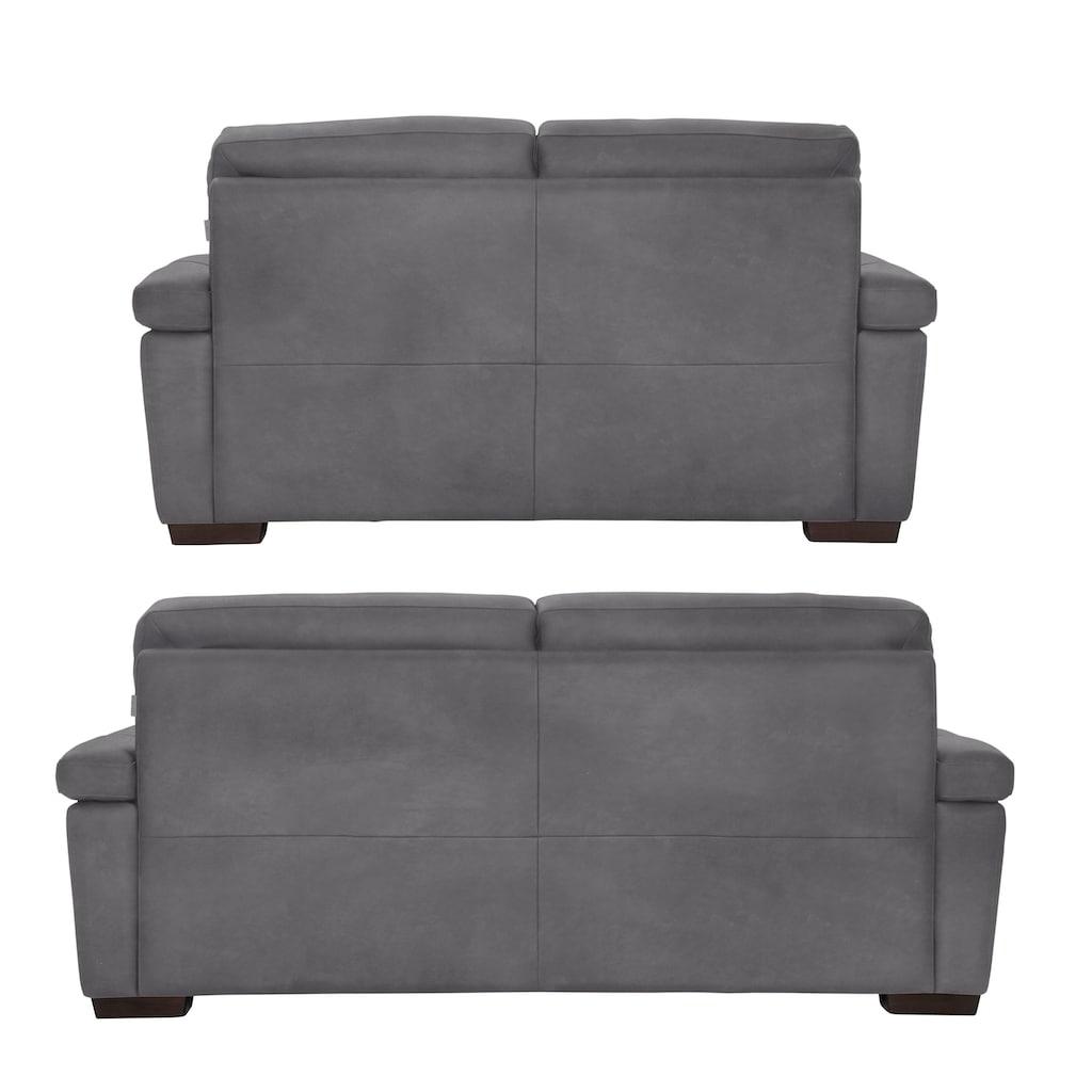 CALIA ITALIA Polstergarnitur »Gaia«, (Set, 2 tlg.), Garnitur bestehend aus 2-Sitzer und 3-Sitzer, mit Luxus-Microfaser Ginevra Hydro Care