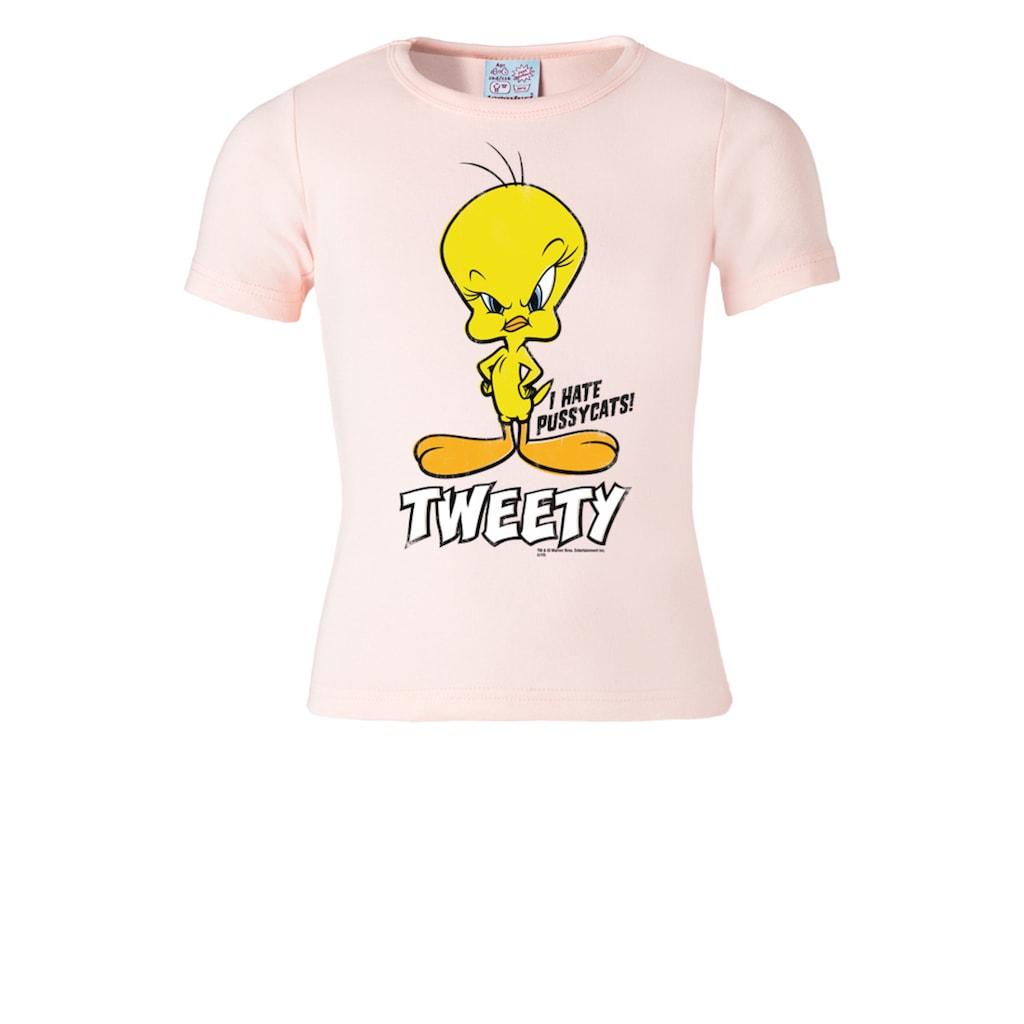 LOGOSHIRT T-Shirt »Looney Tunes - Tweety«, mit niedlichem Print