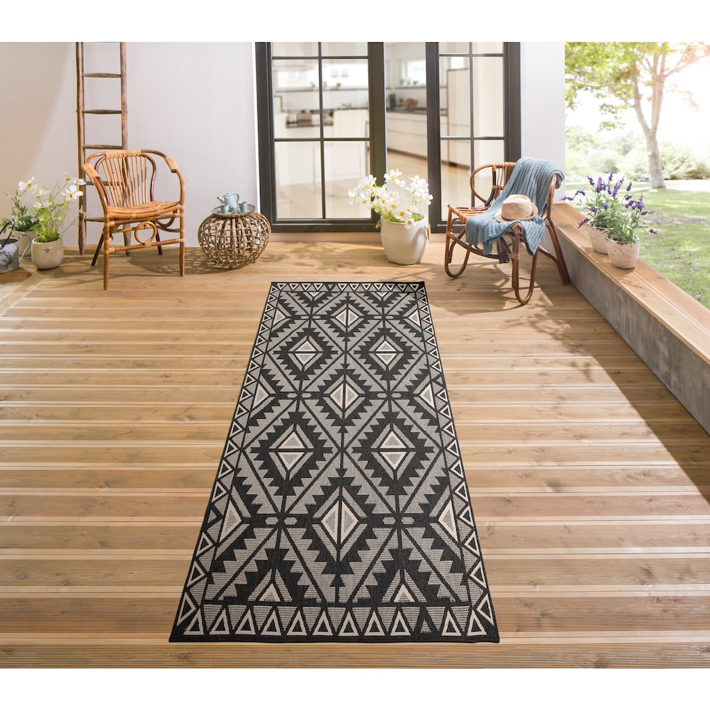 my home Teppich »Timea«, rechteckig, 7 mm Höhe, In-und Outdoor geeignet, Wendeteppich, Wohnzimmer