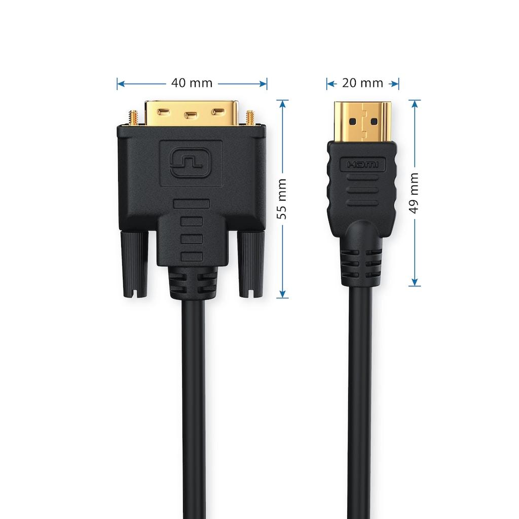 CSL Dual Link DVI auf HDMI HDTV Adapter Kabel »DVI-D Stecker (24+1pol.) auf HDMI Stecker«