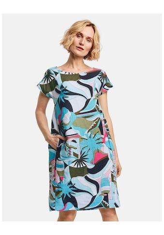 GERRY WEBER Kleid Gewebe »Bedrucktes Kleid aus Leinen« kaufen