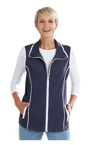 Classic Basics Shirtweste mit kontrastfarbenen Details kaufen