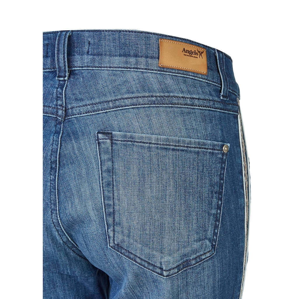 ANGELS Jeans 'Cici Piping Galon' mit Perlen
