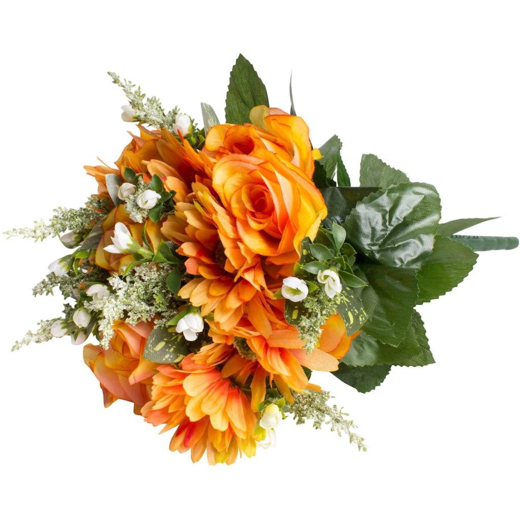 Botanic-Haus Kunstblume »Rosen-Gerbera-Strauß«