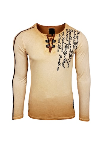 Rusty Neal Langarmshirt mit Rundhals-Ausschnitt kaufen
