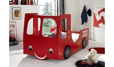 Begabino Autobett, für kleine Feuerwehrleute kaufen