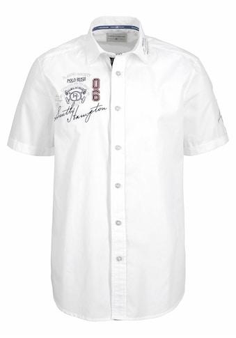 TOM TAILOR Polo Team Kurzarmhemd, mit Stickerei und Print kaufen