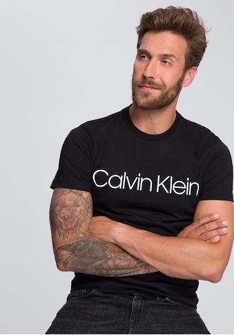 Calvin Klein T-Shirt »COTTON FRONT LOGO«, großer Calvin Klein- Schriftzug kaufen