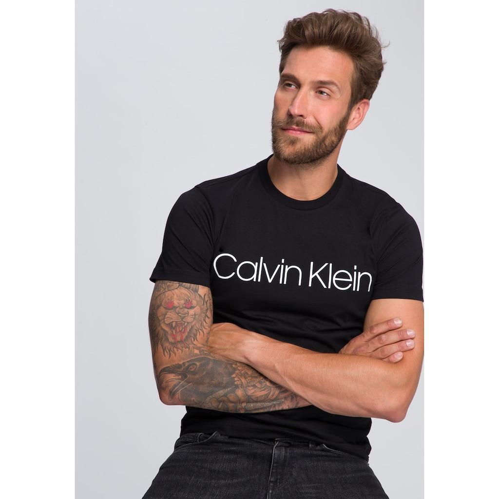 Calvin Klein T-Shirt »COTTON FRONT LOGO«, großer Calvin Klein- Schriftzug