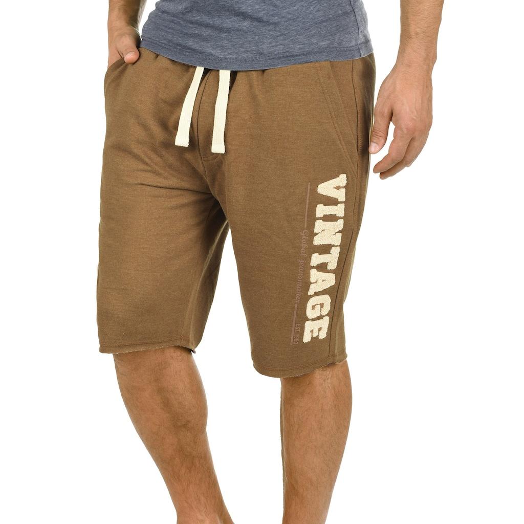 Blend Sweatshorts »Grobmo«, kurze Hose mit Frottier-Logo auf dem Bein