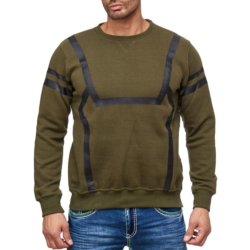 Rusty Neal Sweatshirt mit markantem Streifen-Muster