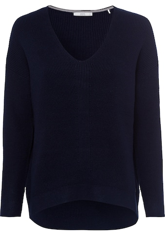 edc by Esprit V-Ausschnitt-Pullover, in gerippter Strickoptik kaufen