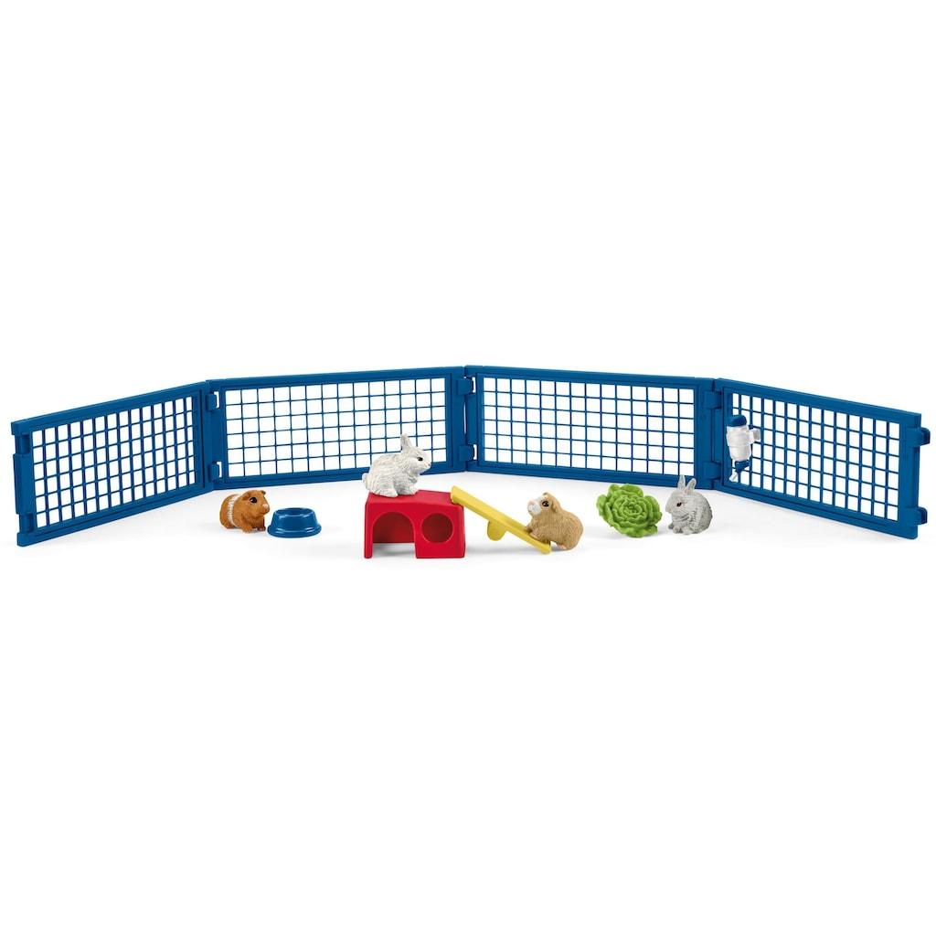 Schleich® Spielfigur »Farm World, Zuhause für Kaninchen und Meerschweinchen (42500)«, (Set)