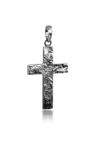 Kuzzoi Kettenanhänger »Herren Kreuz Matt Gehämmert 925 Silber« kaufen