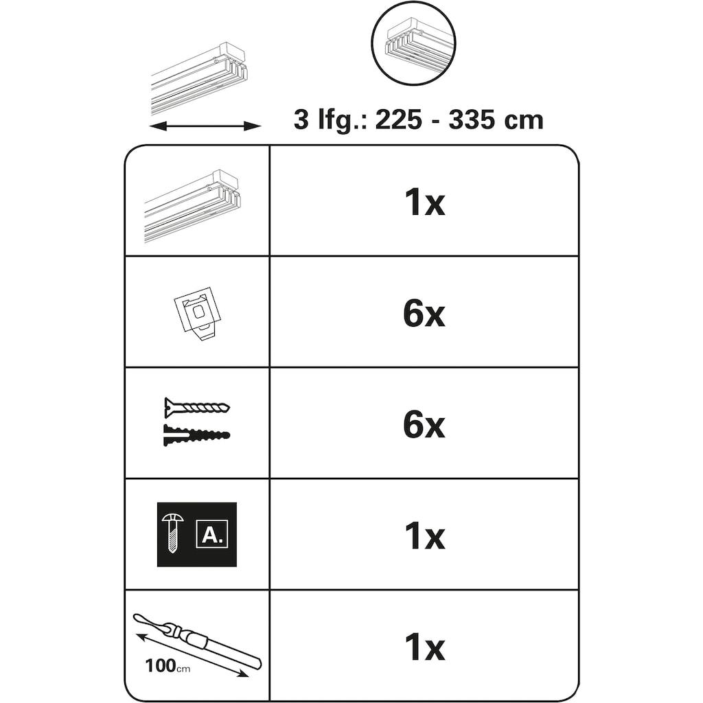 GARDINIA Flächenvorhangschiene »Flächenvorhangschiene Emia Komplett Set«