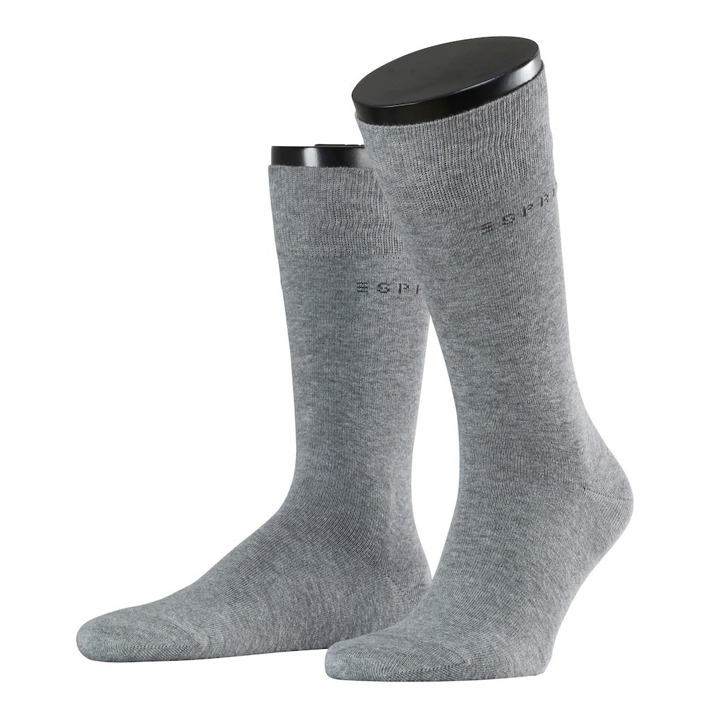 Esprit Socken »Basic Uni 2-Pack«, (2 Paar), mit hohem Baumwollanteil