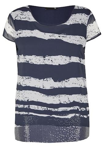 Thomas Rabe Shirt mit Blockstreifen und Pailletten kaufen