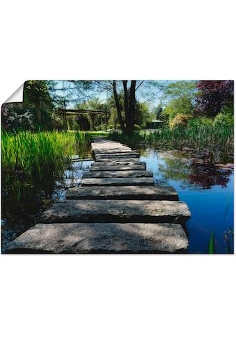 Artland Wandbild »Weg am Teich«, Gewässer, (1 St.), in vielen Größen & Produktarten... kaufen