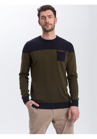Cross Jeans® Strickpullover »34215«, Colorblocking Pullover kaufen