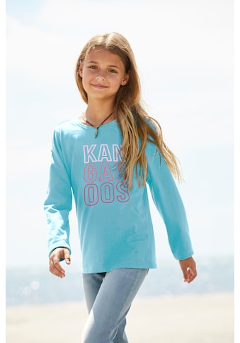 KangaROOS Langarmshirt, leicht taillierte Form kaufen