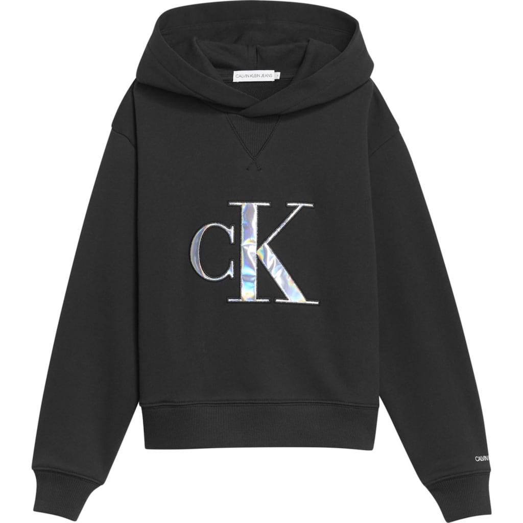 Calvin Klein Jeans Kapuzensweatshirt, mit aufwendiger Applikation