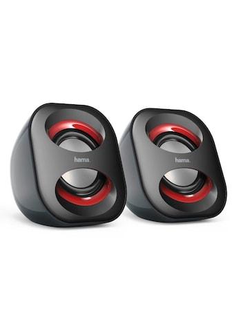 Hama Lautsprecher für PC, Notebook, Tablet etc mit 3,5 mm Klinke »aktive Mini Boxen USB 3.0, 3 W« kaufen