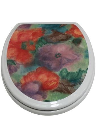 ADOB WC-Sitz »Blumen«, mit messingverchromten Scharnieren kaufen
