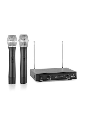 Auna 2 Kanal VHF Funkmikrofon Set 2 x Handmikrofon Kabellos 50m »VHF 2« kaufen